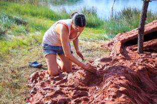 Enlisement, Rachel Labastie dans le parc Izadia