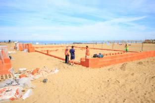Construction du Terrain de Sport de Benedetto Bufalino