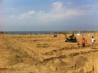 Construction du Terrain de Sport de Benedetto Bufalino ©Benedetto Bufalino