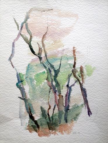 Sans titre, 1972, 47.5 x 35.5 cm, Aquarelle sur papier